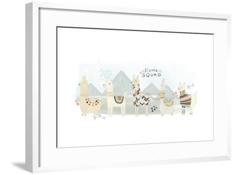 Llama Squad III-June Vess-Framed Art Print