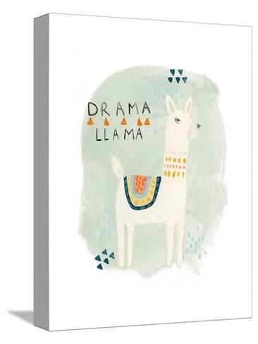 Llama Squad II-June Vess-Stretched Canvas Print