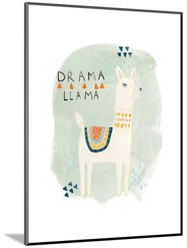 Llama Squad II-June Vess-Mounted Art Print