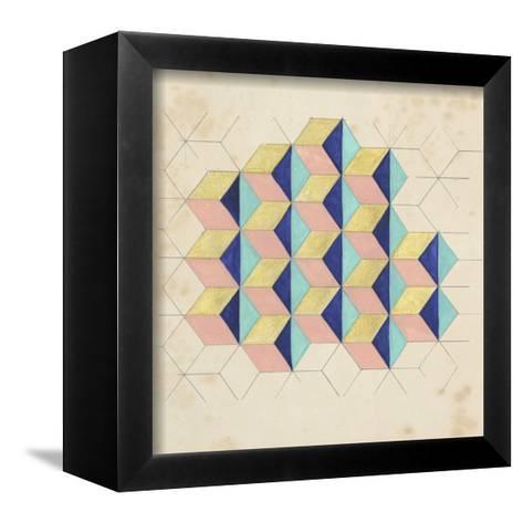 Geometric Pattern Play I-Naomi McCavitt-Framed Canvas Print