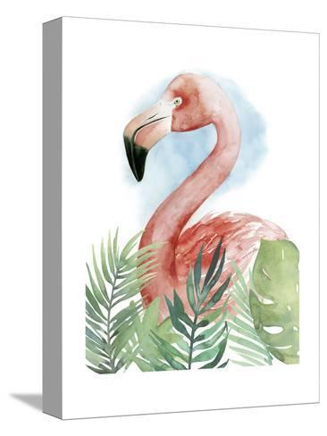 Watercolor Flamingo Composition II-Grace Popp-Stretched Canvas Print