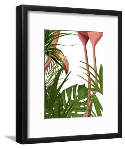 Flamingo Peering-Fab Funky-Framed Art Print