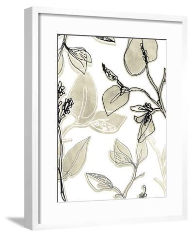 Block Print Contour II-June Vess-Framed Art Print