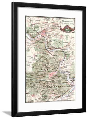 """Fontainebleau: The Forest and Environs"" French Map from the 1800s-Piddix-Framed Art Print"