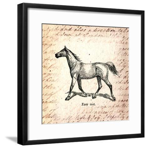 Horses and Love Letters-Piddix-Framed Art Print