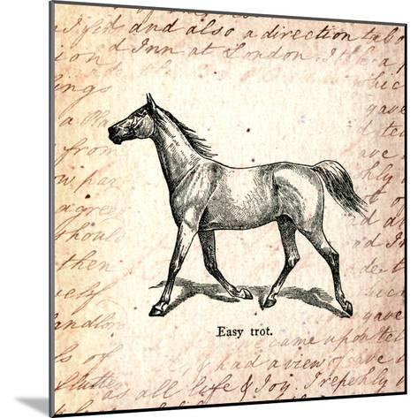Horses and Love Letters-Piddix-Mounted Art Print
