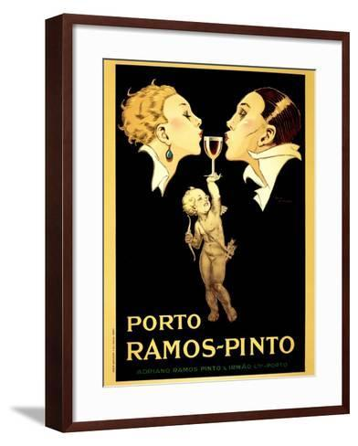 Porto Ramos-Pinto, Vintage French Advertisement Poster by Rene Vincent-Piddix-Framed Art Print