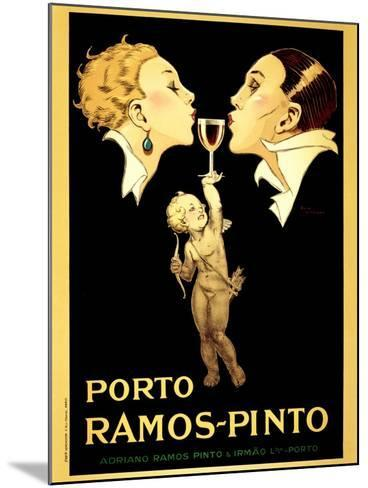 Porto Ramos-Pinto, Vintage French Advertisement Poster by Rene Vincent-Piddix-Mounted Art Print