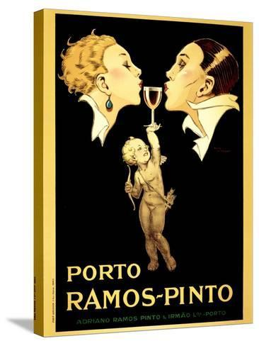 Porto Ramos-Pinto, Vintage French Advertisement Poster by Rene Vincent-Piddix-Stretched Canvas Print
