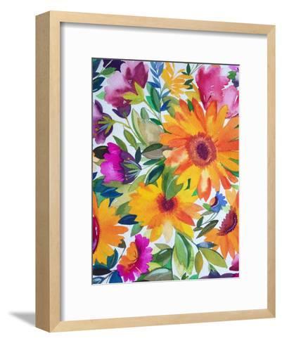 Orange Gerber Daisies 2-Kim Parker-Framed Art Print