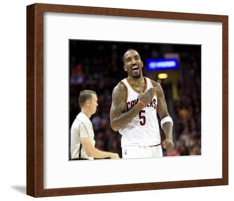 2017 NBA Finals - Game Three-Ronald Martinez-Framed Art Print