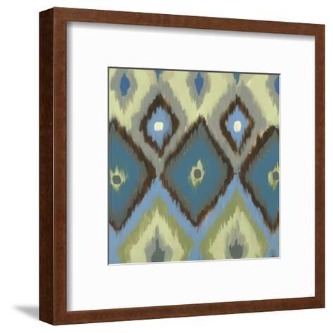 Ikat Blues I-Jeni Lee-Framed Art Print