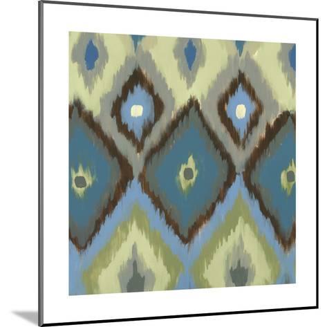 Ikat Blues I-Jeni Lee-Mounted Art Print