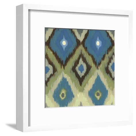 Ikat Blues II-Jeni Lee-Framed Art Print