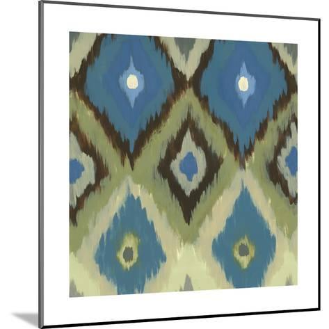 Ikat Blues II-Jeni Lee-Mounted Art Print