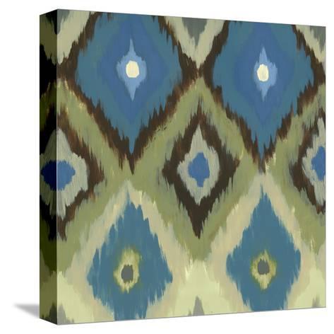 Ikat Blues II-Jeni Lee-Stretched Canvas Print