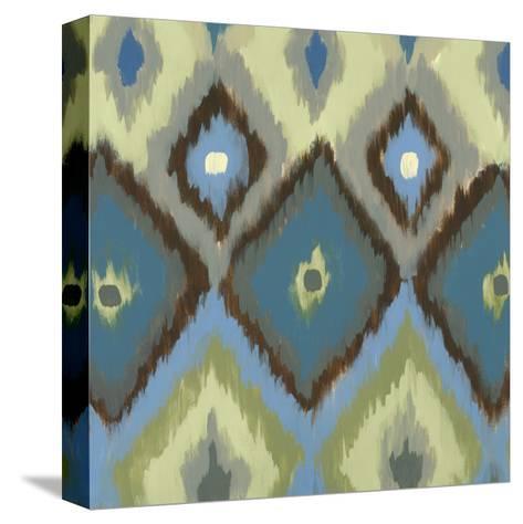 Ikat Blues I-Jeni Lee-Stretched Canvas Print