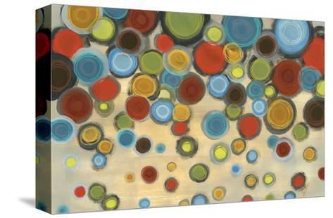Retro Circles-Jeni Lee-Stretched Canvas Print