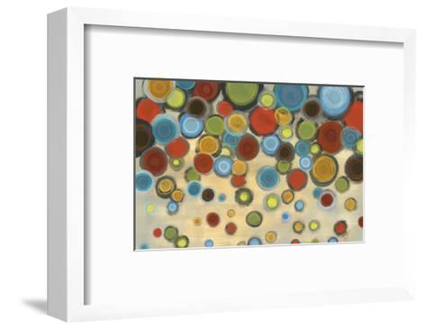 Retro Circles-Jeni Lee-Framed Art Print