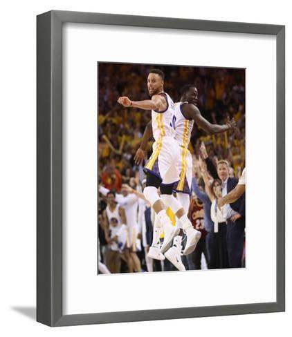 2017 NBA Finals - Game Five-Ezra Shaw-Framed Art Print