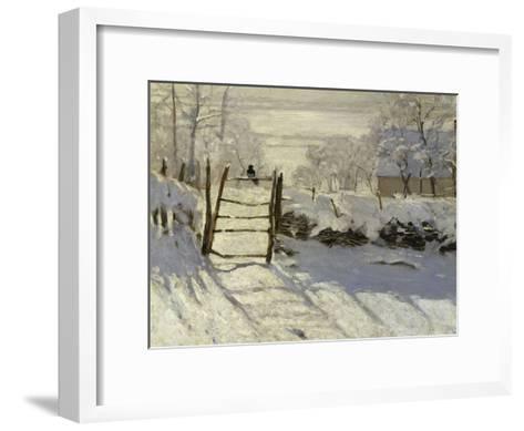 The Magpie, c.1869-Claude Monet-Framed Art Print