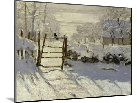 The Magpie, c.1869-Claude Monet-Mounted Giclee Print