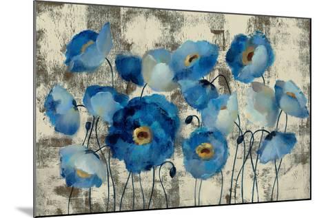 Aquamarine Floral-Silvia Vassileva-Mounted Art Print