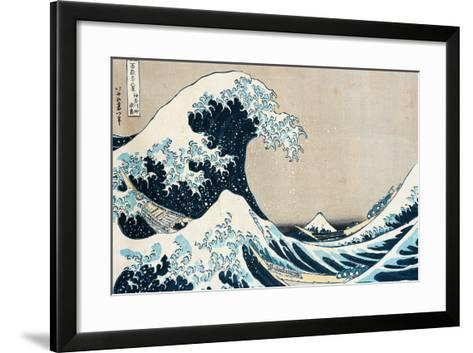 "The Great Wave Off Kanagawa, from the Series ""36 Views of Mt. Fuji"" (""Fugaku Sanjuokkei"")-Katsushika Hokusai-Framed Art Print"