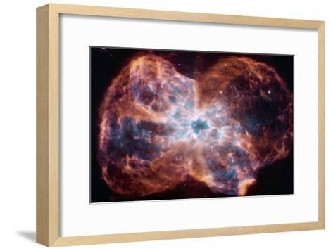 The Colorful Demise of a Sun-like Star Space Photo--Framed Art Print