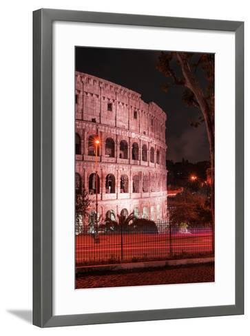 Dolce Vita Rome Collection - The Colosseum Red Night II-Philippe Hugonnard-Framed Art Print