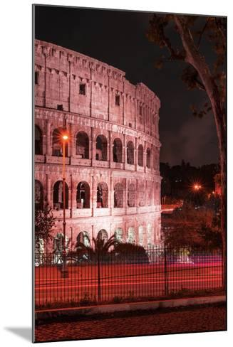 Dolce Vita Rome Collection - The Colosseum Red Night II-Philippe Hugonnard-Mounted Photographic Print
