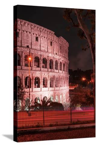 Dolce Vita Rome Collection - The Colosseum Red Night II-Philippe Hugonnard-Stretched Canvas Print