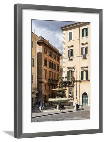 Dolce Vita Rome Collection - Fountain in Rome-Philippe Hugonnard-Framed Art Print