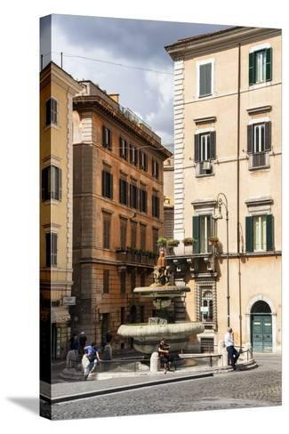 Dolce Vita Rome Collection - Fountain in Rome-Philippe Hugonnard-Stretched Canvas Print