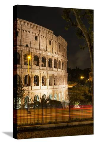 Dolce Vita Rome Collection - The Colosseum Orange Night II-Philippe Hugonnard-Stretched Canvas Print