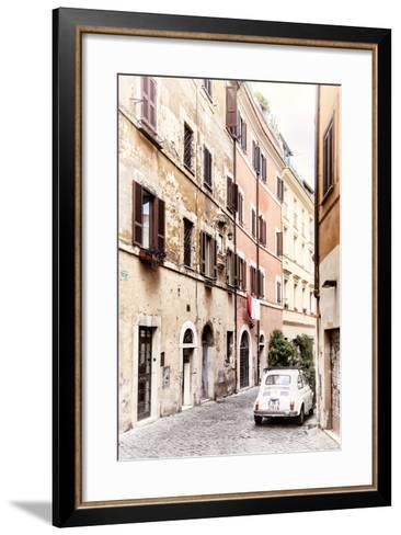 Dolce Vita Rome Collection - Fiat 500 in Rome-Philippe Hugonnard-Framed Art Print