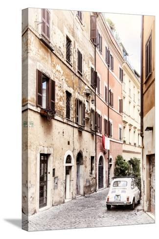 Dolce Vita Rome Collection - Fiat 500 in Rome-Philippe Hugonnard-Stretched Canvas Print