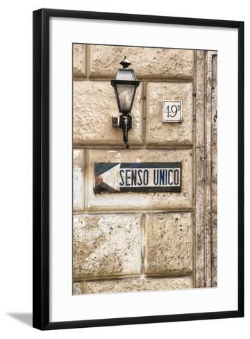 Dolce Vita Rome Collection - Senso Unico-Philippe Hugonnard-Framed Art Print