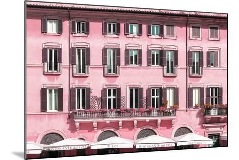 Dolce Vita Rome Collection - Building Facade Pink-Philippe Hugonnard-Mounted Photographic Print