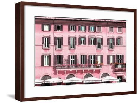 Dolce Vita Rome Collection - Building Facade Pink-Philippe Hugonnard-Framed Art Print