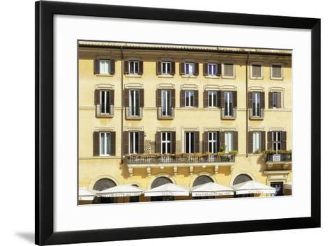 Dolce Vita Rome Collection - Building Facade Yellow-Philippe Hugonnard-Framed Art Print