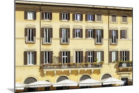 Dolce Vita Rome Collection - Building Facade Yellow-Philippe Hugonnard-Mounted Photographic Print