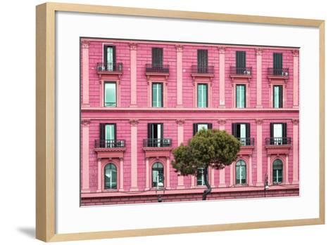 Dolce Vita Rome Collection - Pink Building Facade-Philippe Hugonnard-Framed Art Print