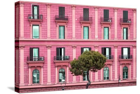 Dolce Vita Rome Collection - Pink Building Facade-Philippe Hugonnard-Stretched Canvas Print