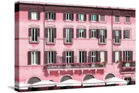 Dolce Vita Rome Collection - Building Facade Pink-Philippe Hugonnard-Stretched Canvas Print