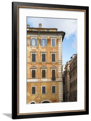 Dolce Vita Rome Collection - Orange Buildings Facade II-Philippe Hugonnard-Framed Art Print