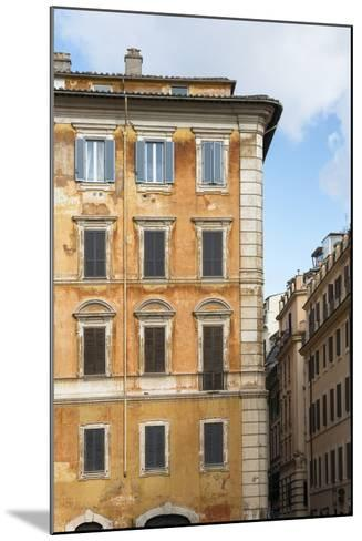 Dolce Vita Rome Collection - Orange Buildings Facade II-Philippe Hugonnard-Mounted Photographic Print