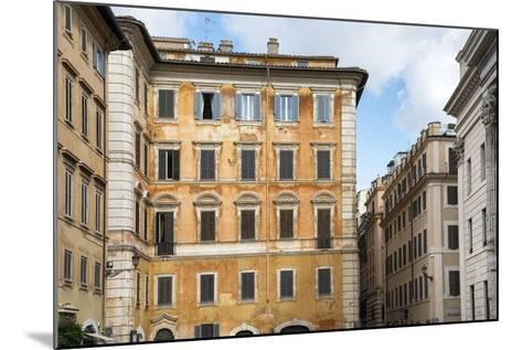 Dolce Vita Rome Collection - Orange Buildings Facade-Philippe Hugonnard-Mounted Photographic Print