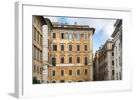 Dolce Vita Rome Collection - Orange Buildings Facade-Philippe Hugonnard-Framed Art Print