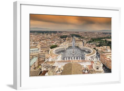Dolce Vita Rome Collection - The Vatican City at Sunset-Philippe Hugonnard-Framed Art Print